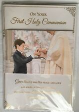 On Your First Holy Communion / Boys 1st Holy Communion 3D Card