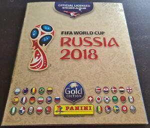 """Album Panini Russia 2018 Gold """"Swiss"""" + 682 complete + 12 coca-cola"""