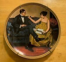 """4 Vintage 8-1/2"""" Norman Rockwell Plates Re-discovered Woman Collection-Knowles"""
