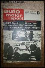 AMS Auto Motor Sport 13/65 Fiat 850 Coupe DB 190 D Automatic Excalibur