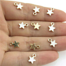 20952 20X Enamel Gold Plated Alloy Mini White Star Pendant Charms Ends Findings