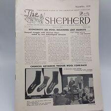 Shepherd American Sheep Industry Newsletter Nov 1959 Wool Sheepmen Agriculture