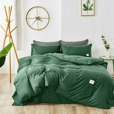 Home Textile Bedding Set Solid Color Duvet Cover Sets Quilt Covers Pillowcases