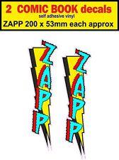 2 Zapp Adesivo FUMETTO Auto Decalcomania Bisaccia Bici Auto Mini carrello SCOOTER VW
