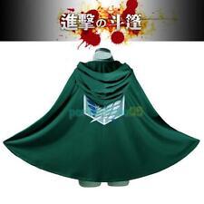 Attack on Titan Shingeki no Kyojin Scouting Legion Cosplay Cloak Cape Eren Levi