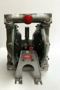 """INGERSOLL RAND 66610B-244-C STAINLESS STEEL SS DOUBLE DIAPHRAGM PUMP 1"""" SIZE"""