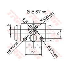 Radbremszylinder TRW BWB170