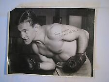 VINTAGE TOMMY HERMAN CHICAGO WELTER CHAMP WEIGHT BOXING 10X8 B/W PHOTO