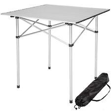 Tavolo camper campeggio picnic alluminio pieghevole arrotolabile 70x70x70cm nuov