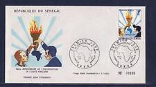 ASg/ Sénégal  enveloppe  1er jour  unité Africaine    1973
