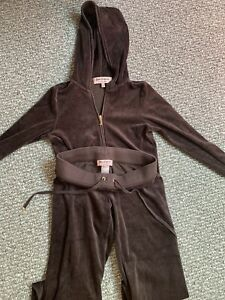 Juicy Couture Velour Tracksuit, Brown,Top (Size Small) Bottom (Size XS)