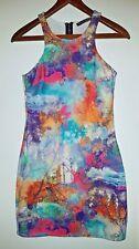 Atmosphere Ladies Blue/Pink body-con strap sleeveless Size 10 / EU 38