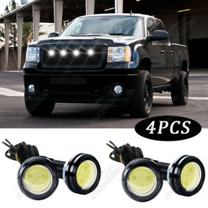 4X For Nissan Frontier 2005-2021 Grille LED White Light Raptor Style Grill