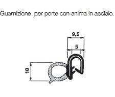 30077.20 CAMPER GUARNIZIONE PORTE CAMPER CARAVAN CON ANIMA ACCIAIO RN