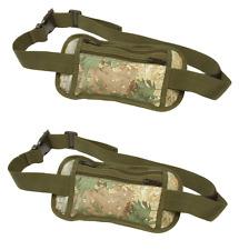 2 Camo Secret Security Waist Belt Bag Hidden Passport Travel Wallet Money Holder