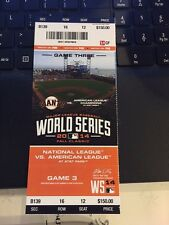 2014 SAN FRANCISCO GIANTS VS KANSAS CITY ROYALS WORLD SERIES GAME #3 TICKET STUB