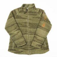 Vintage NAPAPIJRI Thick Pile Sherpa Fleece Jacket | Women's L | Coat Zip Camo