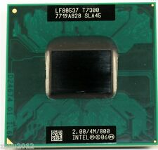 Intel Core 2 Duo T7300 CPU 2.0 / 4M / 800 CPU SLA45 PROCESSOR