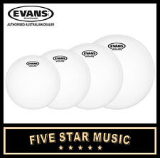 "Evans G2 Coated 4 PCE Drum Skin Rock Tom Set 10"" 12"" 14"" 16"" Heads"