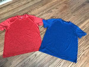 2 Men's Old Navy Active Go Dry T - Shirts Size Large Orange, Blue