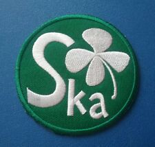 TWO TONE MADSTOCK SKA MUSIC SEW / IRON ON PATCH:- 2 TONE RECORDS SKA RUDE BOY