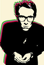 Elvis Costello Poster, Pop Art, New Wave, Punk