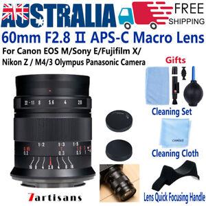 7artisans 60mm F2.8 Ⅱ Macro Lens For Fujifilm X Canon EOS EF M Sony E Nikon M4/3