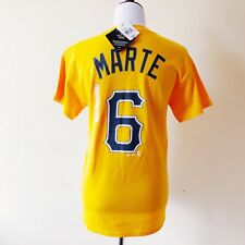 NWT MLB Pittsburgh Pirates # 6 Marte Jersey T-Shirt Small Yellow Black