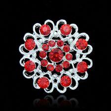 Buy 2 get 1 free rhinestone crystal red bridal bouquet brooch pin wedding
