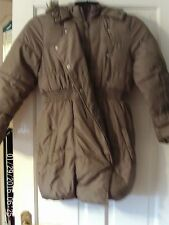 BEIGE HOODED COAT, AGED 9-10