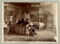 France, Paris, Musée de Cluny, Salle François 1er, côte du lit Vintage albumen p
