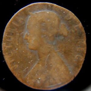 Newfoundland 1880 1 cent copper coin; good condition. [lot4]  well worn