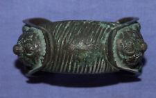Antique Medieval Crusader Fertility Woman Bronze Bracelet