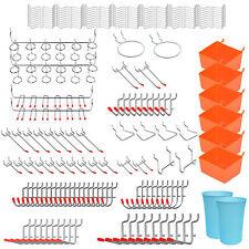 170 Pcs Pegboard Hooks Kit With Metal J Hook Plastic Bins Peg Locks For Storage