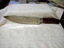 HAMPTON FORGE ARGENTUM STORE RETURN 8 INCH CHEF KNIFE SLEEK CHERRY RED HANDLE