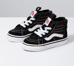 Vans SK8-Hi Zip Black / White Toddlers Shoes New In Box