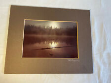 "vintage photograph TED COOPER signed Trees Lake With Mist Sunset? 8""x10"""
