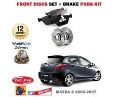 für Mazda 2 1.25 1.4 1.6 2003-2007 Vorderbremse Scheibensatz + Bremsbelagsatz