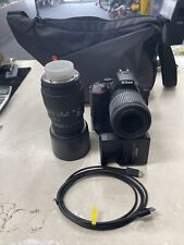Nikon D5600 24.2MP Digital SLR Camera W/ Nikon 55-200mm Lens, Sigma DC 70-300mm
