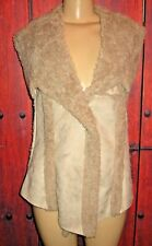 DOLCE CABO WOMEN'S GORGEOUS FAKE SUEDE FAKE FUR VEST SIZE M