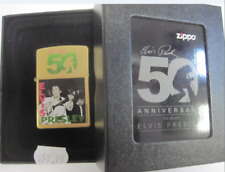 Vintage Retired Unstruck Zippo - Elvis First Album Collectors