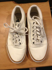Vans Off The Wall Low Top White Shoes 721461 Mens size 5.5 Women's size 7.0