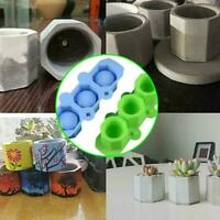 Silicone Mold Geometric Polygonal Concrete Flower Pot Craft Resin Vase Cup W6J9