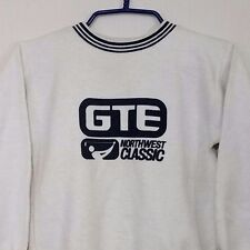 GTE Northwest Classic Golf Sweatshirt Vintage 80s Inside Out Fleece Youth 10