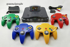 Nintendo 64/n64 (super Stato) + Mario Kart, 4 original controller cavo &
