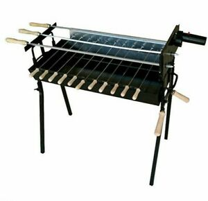 Cypriot Charcoal Rotisserie Barbecue Kebab Grill Foukou BBQ & Motor - Extra Wide