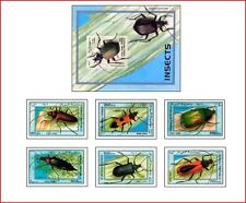 SOM9804 Insects 6 stamps and block MNH SOMALIA 1998
