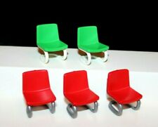 Playmobil Furniture Lot of 5 Chairs for House, School or Office