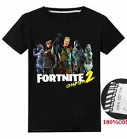 Boys Fortnite Chapter 2 Drift Victory game black cotton T-shirt top gaming 4-14y