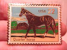 Rare 22 Cent Enamel & Metal QUARTER HORSE Bolo Tie STAMP by US Postal Service